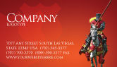 Education & Training: Knight Business Card Template #03285