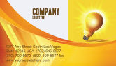 Business Concepts: Bright Idea Business Card Template #03307