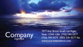 Nature & Environment: Sea Water Business Card Template #03324