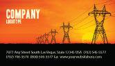 Utilities/Industrial: 명함 템플릿 - 전송 설비 #03380