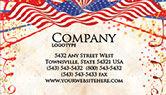 Holiday/Special Occasion: Templat Kartu Bisnis Gratis Perayaan 4 Juli #03392