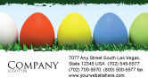 Holiday/Special Occasion: Easter Eggs Business Card Template #03396