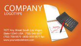 Financial/Accounting: 명함 템플릿 - 재무 분석 #03400