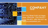 Technology, Science & Computers: Circuit Board Business Card Template #03422