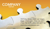 Business Concepts: Puzzle Parts Business Card Template #03435