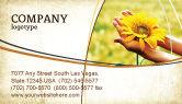 Abstract/Textures: Summer Flower Business Card Template #03501