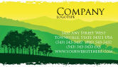 Nature & Environment: Mountain Landscape Business Card Template #03509
