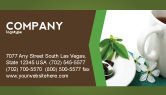 Food & Beverage: Green Tea Ceremony Business Card Template #03551