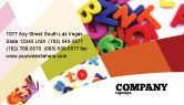 Education & Training: Word Play Business Card Template #03592