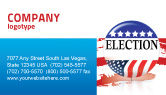 America: USA Elections Business Card Template #03595