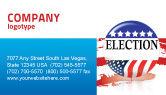 America: Templat Kartu Bisnis Pemilihan Usa #03595