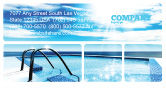 Careers/Industry: Swimming Pool Business Card Template #03599