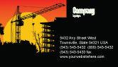 Construction: Building Set Business Card Template #03600