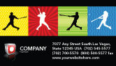 Sports: Baseball Bat Hit Business Card Template #03612