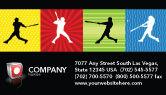 Sports: Templat Kartu Bisnis Pemukul Baseball Memukul #03612