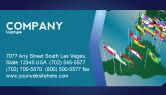 Flags/International: Modello Biglietto da Visita - Sud e centro america #03615