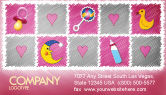 Education & Training: Baby's Room Theme Business Card Template #03622