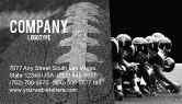 Sports: American Football Dallas Cowboys Business Card Template #03653