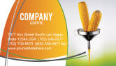 Careers/Industry: Corn Oil Business Card Template #03664