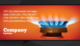 Careers/Industry: Gas Stove Business Card Template #03675