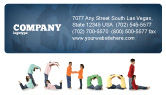 Education & Training: School Word Business Card Template #03693