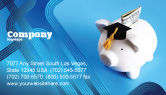 Financial/Accounting: Education Costs Business Card Template #03703
