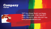 Art & Entertainment: Various Colors Of Paint Business Card Template #03714