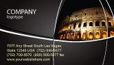 Construction: Coliseum Business Card Template #03724