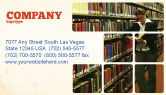 Education & Training: Student In The Library Business Card Template #03732