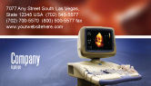 Medical: Ultrasound Business Card Template #03741