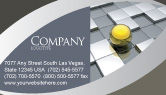 Business Concepts: Yellow Ball Business Card Template #03747