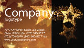 Holiday/Special Occasion: Gold Star Business Card Template #03748