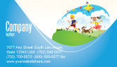 Education & Training: Happy Childhood Business Card Template #03756