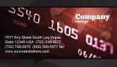 Financial/Accounting: Elektronische Betaalkaart Visitekaartje Template #03781