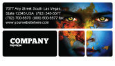 Nature & Environment: Eyes of Earth Business Card Template #03807