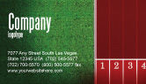 Sports: Starting Line Business Card Template #03809