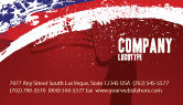 America: Torn Flag Business Card Template #03827