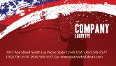 America: Templat Kartu Bisnis Bendera Robek #03827
