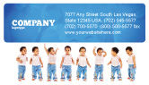 People: Baby Emotions Business Card Template #03852