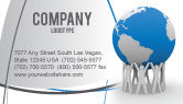 Global: Save the World Business Card Template #03868