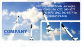 Military: Missiles Business Card Template #03894