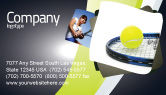 Sports: Tennis Ball Business Card Template #03918