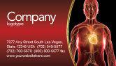 Medical: Blood Vascular System Business Card Template #03930