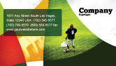 Sports: American Football in School Business Card Template #03952