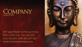 Religious/Spiritual: Buddha In Meditation Business Card Template #03973