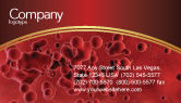 Medical: Blood Business Card Template #03987