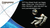 Technology, Science & Computers: Cosmonaut Business Card Template #03991