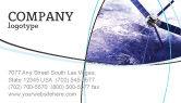 Telecommunication: Communication Satellite Business Card Template #03994