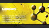 Abstract/Textures: Molecular Lattice In Dark Yellow Colors Business Card Template #04002