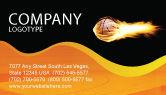 Sports: Modello Biglietto da Visita - Basket flaming #04054